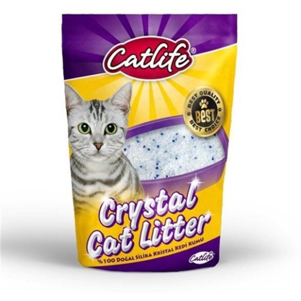 Silica Kedi Kumları (Kristal Kedi Kumu ) - Catlife - Catlife Silica Kedi  Kumu 3.8 Lt - Kristal Kedi Kumu